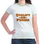 Qualify or Perish Jr. Ringer T-Shirt