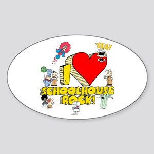 I Heart Schoolhouse Rock! Sticker (Oval)