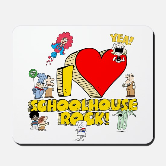 I Heart Schoolhouse Rock! Mousepad