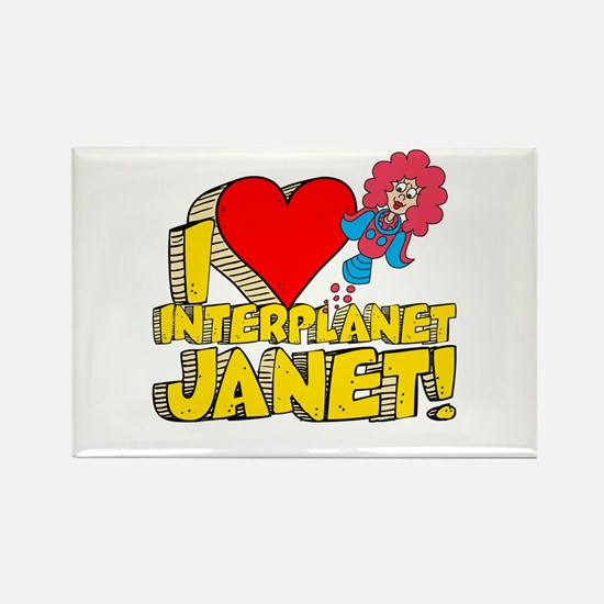I Heart Interplanet Janet! Rectangle Magnet (10 pa