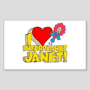 I Heart Interplanet Janet! Sticker (Rectangle)
