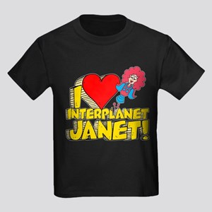 I Heart Interplanet Janet! Kids Dark T-Shirt