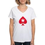 PokerStars Shirts and Clothin Women's V-Neck T-Shi