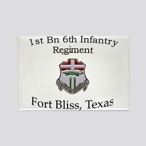 1st Bn 6th Inf Rectangle Magnet