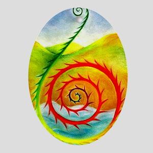 Koru Range Ornament (Oval)