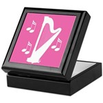Silhouette Harp and Music Notes Gift Box