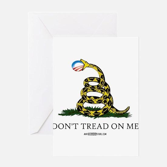 Anti-Obama Gadsden Flag Greeting Card