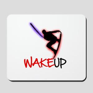 Wake Up Red/Purple Mousepad