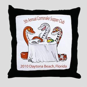 5th Annual Cornsnake Supper C Throw Pillow