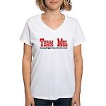 Team Mel Women's V-Neck T-Shirt