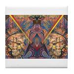 African Magic Tile Coaster