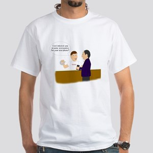 Funny Duct Tape Phone White T-Shirt