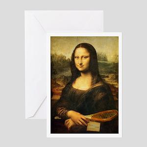 Mona Lisa Smile - Tennis Greeting Card