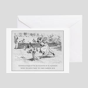Tennis Etiquette - Greeting Cards (Pk of 10)