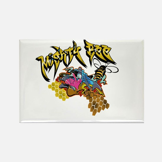 Graffiti Mighty Bee Rectangle Magnet