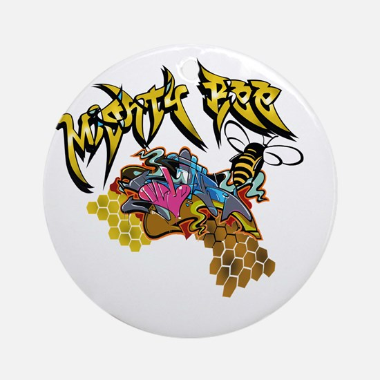Graffiti Mighty Bee Ornament (Round)