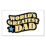 Worlds Greatest Dad Rectangle Sticker