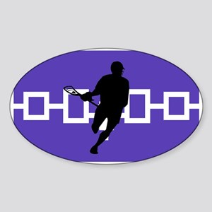 Lacrosse Iroquois Nation Sticker (Oval)