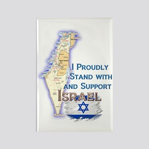 I Stand With Israel - Rectangle Magnet