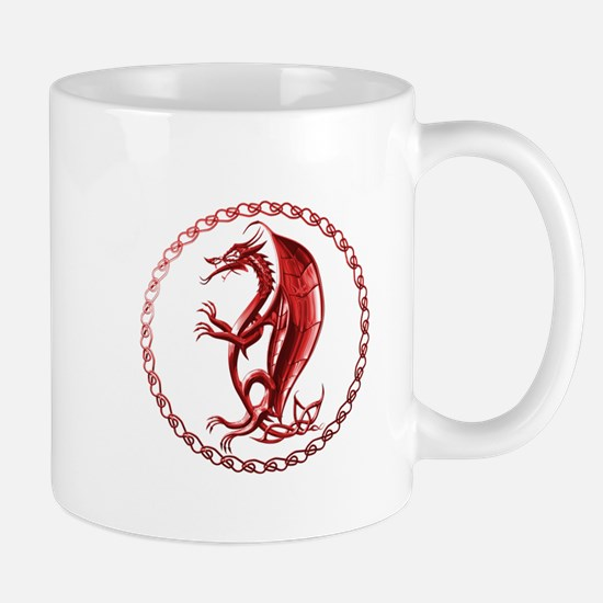 Red Celtic Dragon Mug