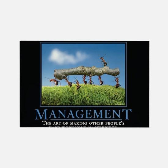 Management Rectangle Magnet