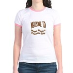 'Chocolate City' Pink Jr. Ringer T-shirt