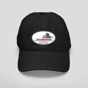 Virginia Shape USA Oval Black Cap