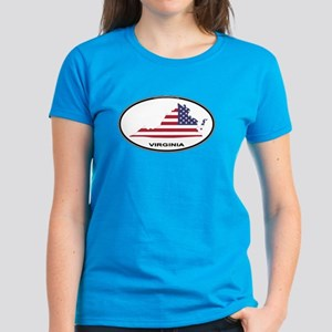 Virginia Shape USA Oval Women's Dark T-Shirt