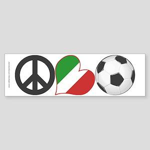 Peace Love Soccer Italy Sticker (Bumper)