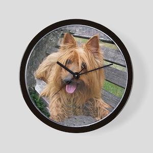 Awesome Australian Terrier Wall Clock