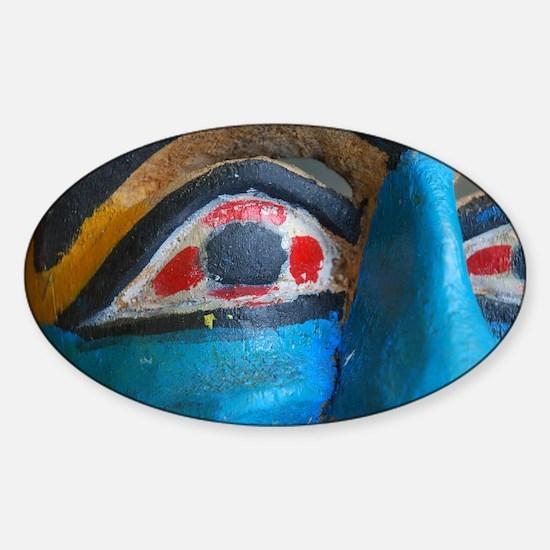 Cute Vintage carnival Sticker (Oval)