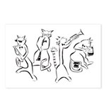 jazz catsPostcards (Package of 8)