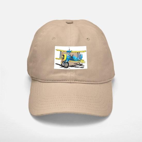 Blue Biplane Baseball Baseball Cap