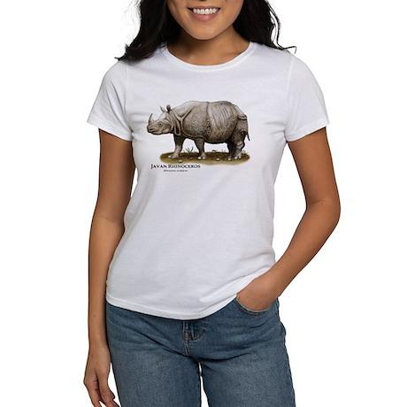 Javan Rhinoceros Women's T-Shirt