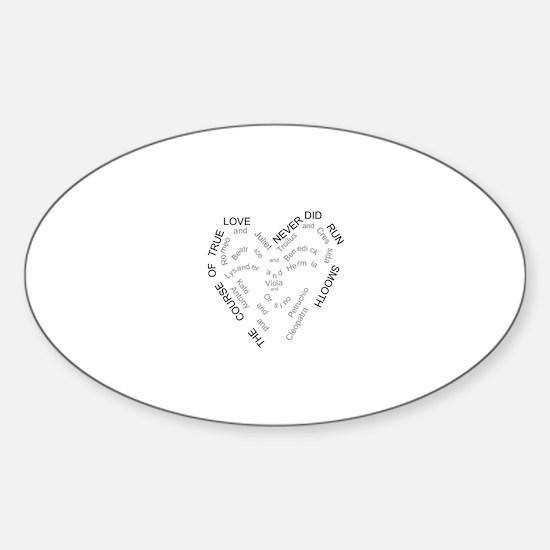 Cute Shakespeare a midsummer night Sticker (Oval)