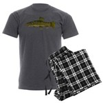 Amazon Wolf fish Trahira Men's Charcoal Pajamas