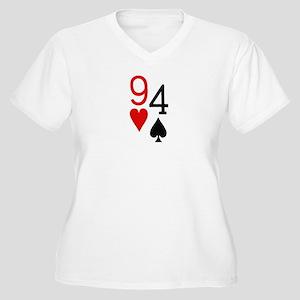 9h4s Women's Plus Size V-Neck T-Shirt