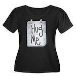 Hug Me Women's Plus Size Scoop Neck Dark T-Shirt