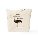 Man Pigeon Tote Bag