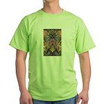 African Sculpture Green T-Shirt