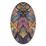 African Sculpture Oval Sticker