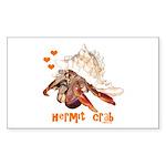 Hermit Crab Sticker (Rectangle 10 pk)