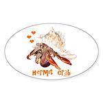 Hermit Crab Sticker (Oval 10 pk)