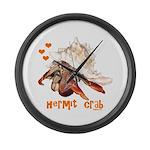 Hermit Crab Large Wall Clock