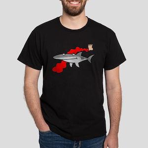 A Very Naughty Shark Dark T-Shirt