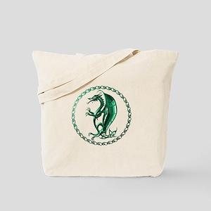 Green Celtic Dragon Tote Bag