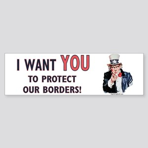 IWU - Protect our Borders! Bumper Sticker