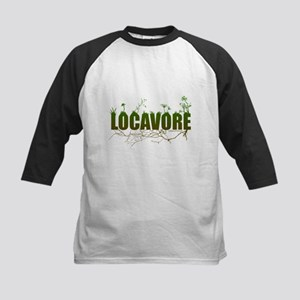 Locavore buy locally realfood Kids Baseball Jersey