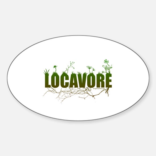 Locavore buy locally realfood Sticker (Oval)
