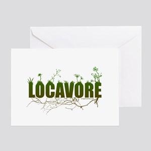 Locavore buy locally realfood Greeting Card